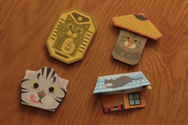 クリスマス 折り紙 猫 折り紙 : ilove.cat